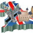United Kingdom tourism — Vector de stock