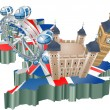 United Kingdom tourism — Vector de stock #6576895