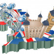 United Kingdom tourism - Image vectorielle