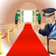VIP Red Carpet Treatment - Stock Vector