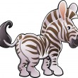 Cute Zebra Vector Illustration — Stock Vector