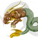Capricorn the sea goat star sign — Stock Vector
