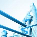 Futuristic cityscape — Stock Vector #6577603