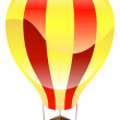 Shiny hot air balloon icon illustration - Stock Vector