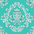 Seamless tiling floral wallpaper pattern - Stock Vector