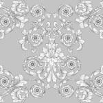 Постер, плакат: Seamless tiling floral wallpaper pattern