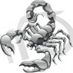 Scorpio the scorpion star sign — Stock Vector