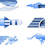Speed Icon Set Series Design Elements — Stock Vector #6578016