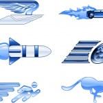 Speed Icon Set Series Design Elements — Stock Vector