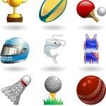 Shiny sports icon set series — Stock Vector #6578031