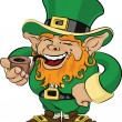 Illustration of St. Patrick's Day leprechaun — Stock Vector