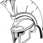 Illustration of Spartan roman greek trojan or gladiator helmet — Stock Vector #6578079
