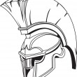 Illustration of Spartromgreek trojor gladiator helmet — Stock Vector #6578079