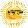 Smiling sun with sunglasses illustration - Stock Vector
