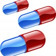 Pills or tablets illustration - Stock Vector