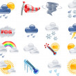 Weather forecast icons — Stok Vektör