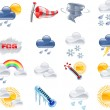 Weather forecast icons - 图库矢量图片