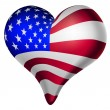 American hearts and minds — Stock Vector