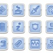 Application icon set — Stock Vector