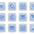 business and office icon set — Stock Vector
