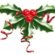 Royalty-Free Stock Imagem Vetorial: Holly berries and ribbons