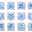 Royalty-Free Stock Imagen vectorial: Communication icon set