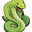 Cute cobra snake — Stock Vector