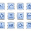 Media icon set — Stock Vector