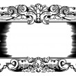 Woodblock style vintage frame - Stock Vector