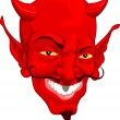 Devil face — Stock Vector
