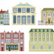 Luxury old fashioned houses buildings — Stock Vector #6579096