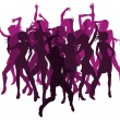 Beautiful women dancing silhouettes - Imagen vectorial