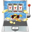 Royalty-Free Stock Vector Image: Laptop slot machine concept