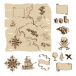 Make your own fantasy or treasure maps - Stock Vector
