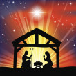 Traditional Christian Christmas Nativity Scene — Imagen vectorial