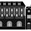 Posh smart row of buildings - Vektorgrafik