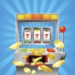Slot fruit machine winning — Stock Vector