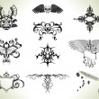 Stock Vector: Tattoo flash design elements