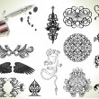 Tattoo flash design elements — Stock Vector #6579548