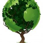 Globe world tree concept — Stock Vector