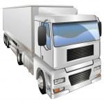 Illustration of haulage truck — Stock Vector