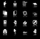 Applications icon set — Stock Vector