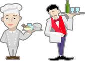 Chefs — Stock Vector