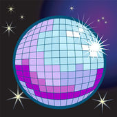 Disco ball illustration — Stock Vector