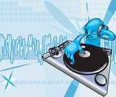Funky dj illustration — Stock Vector