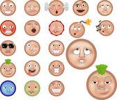 Emoticons icon set — Stock Vector