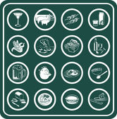 A set of food and drink icons — Stock Vector