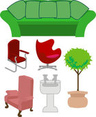 Furniture set — Stock Vector