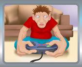 Gamer illustration — Stock Vector