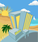 Hotel illustration — Stock Vector